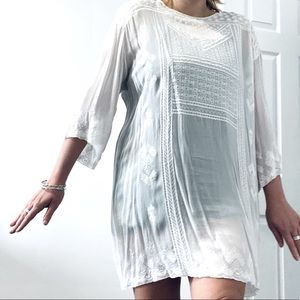 Wilfred sheer tunic with Aztec print